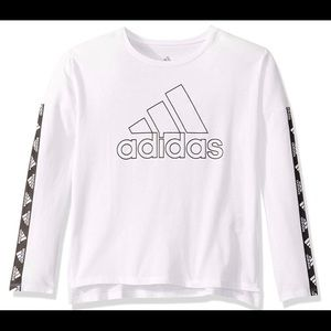 Adidas long sleeve crop tee